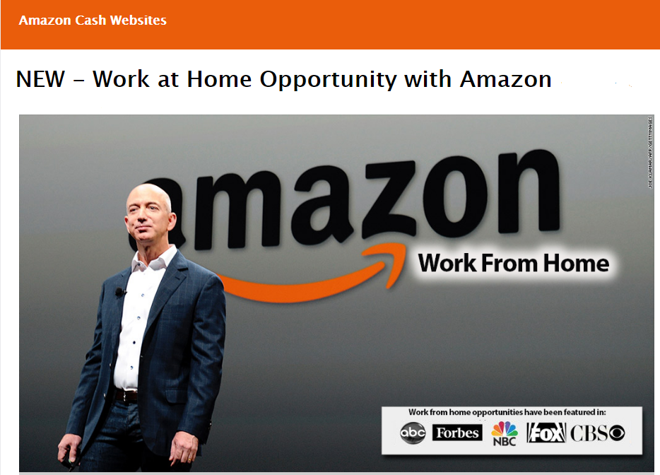 Amazon work at home opportunity